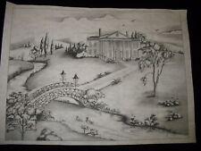 * Tri Chem 2327 Country House Brick Bridge Mansion Picture Trichem