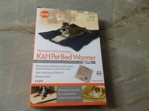 K&H Heated Pet Bed Warmer Dog Cat Electric Heating Indoor Small New NIP Sealed