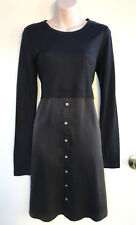 NEW ARMOIRE Silk & Jersey Longsleeve Tunic Dress with Button Detail S Rrp$229.00