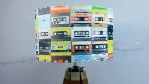 Cassette Print Lampshade - Drum Lamp shade 25cm 30cm 40cm Handmade Home Decor