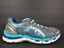 Asics Gel Kayano 19 Womens Size 8 Running Shoes White Grey Silver Blue T350N