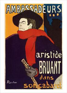 Toulouse-Lautrec - Aristide Bruant - fine art print vintage poster various sizes