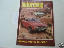 AUTOREVUE 1973-11 AUSTIN ALLEGRO,GP BELGIE F1 TYRRELL,CITROEN AMI SUPER,ZANDVOOR