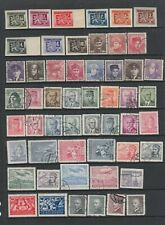 Czechoslovakia 1945 - 1952 MH or fine used collection, 169 stamps.