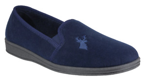 Mirak Stag Classic Slip On Traditional Mens Slippers Twin Gussets UK Size 6-12