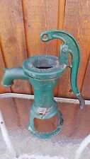 INTERESTING OLD Cast Iron Hand WATER PUMP Signed SMART BROCKVILLE