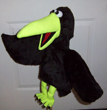 X Large Ventriloquist Black Crow Puppet-custom made--ministry, bird, zoology