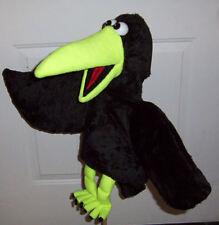 X Large Ventriloquist Black Crow Puppet-custom made--ministry, bird