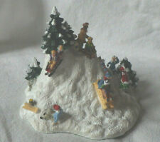 "Liberty Falls ""The Sledding Party"" Ah400 Western Christmas Snow Village Figurine"