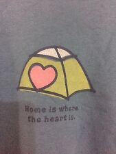"""LIFE IS GOOD WOMEN'S T- SHIRT SZ L Cotton Blue Long Sleeve """"Home is where the """""""