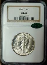 1946-D WALKING LIBERTY HALF DOLLAR - MS 64 - NGC - CAC CERTIFIED - #006
