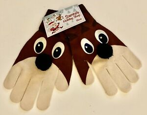 MAD ENGINE Santa's Work Shop RUDY HANDS Brown Gloves (One size fits all)