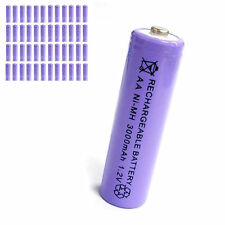 48 pcs AA 2A 3000mAh 1.2V Ni-MH rechargeable battery Solar Light MP3 Toy Purple