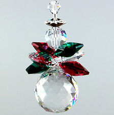 m/w Swarovsksi Best Crystal * Chubby Triple Winged Christmas Angel Sun Catcher