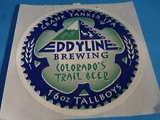 Aufkleber: Eddyline Gär Company ~ Kurbel Yanker Ipa ~ Colorado's Trail Bier ~