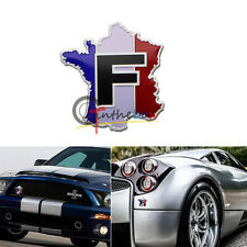 1PC Car/Motorcycle Decal Racing France Flag Map Decor Sticker 3D Emblem Badge