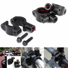 "8mm 7/8"" 22mm Motorcycle Handle Bar Mirror Mount Adaptor Clamp Bracket Universal"