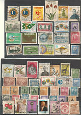 Colombia lot of 84 stamps used