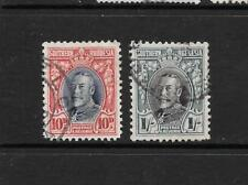 1931 King George V SG22 & SG23 high values Used SOUTHERN RHODESIA