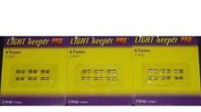 Light Keeper Pro - 3 Packs of 6 Christmas Light String Fuses - 3 Amp New