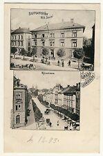 LUDWIGSBURG Myliusstrasse & Gasthaus Stuttgarter Hof v W Dautel * AK um 1905