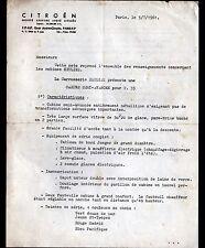 "PARIS (XV°) USINE AUTOMOBILE CITROEN ""CARROSSERIE HEULIEZ & TARIFS"" en 1961"
