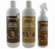 Petway Gentle Protein Grooming Kit Shampoo Conditioner Cologne Brush Dog Cat