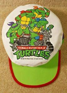 Vintage 1990 TMNT Teenage Mutant Ninja Turtles Kid's Painters Cap Hat