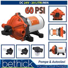 POMPA AUTOCLAVE BARCA CAMPER SEAFLO 24V 20 LT/MIN 60PSI CON PRESSOSTATO DOCCETTA