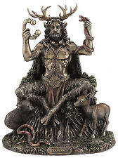 NEW CELTIC GOD - Cernunnos sitting Statue Sculpture Figurine Ship Immediately