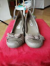 """American Eagle Womens Size 13 Casual Biege 2"""" Wedge Slip On Heels Shoes"""