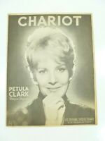 Vintage Partition Sheet Music Petula Clark Chariot c1962 French Version