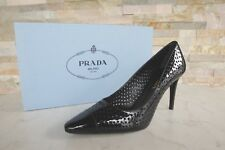 Prada talla 36 PUMPS CHAROL heels zapatos Shoes 1i700f Black negro nuevo PVP 395 €