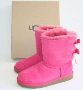 $205 UGG Bailey Bow Pink Suede Boots UGG AUSTRALIA SIZE US 5