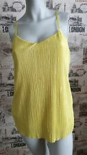 Next Lime Green Crinkle Cross back Strappy Top size 10 UK Summer Holiday
