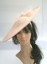 Stunning Hatinator -Silver, pink,Champagne Ivory - Wedding Ascot Hat Hatinator