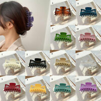 Large Hair Claws Clips for Women Girls Glossy Plastic Hairpins Hair Clamps Crabs