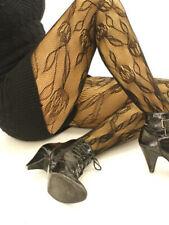 Tulipán Encaje Net Estampado Calzas Negro S/M-M/L