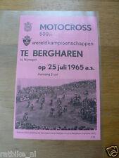 64 FLYER MINIPOSTER INT. MOTOCROSS 500 CC BERGHAREN 1965