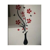 Wall Sticker 3D Vase Flower DIY Home Decor Removable Decal Art Room Decoration