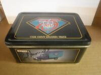 Signed Autographed Earl Morrall Tom Matte 1930 Chevy Diecast Truck NFL 031117jh