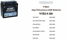 TRIUMPH 955i SPRINT DAYTONA T509 TIGER Hi Performance Battery VTX14-BS