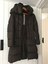 Designer Add Down Belted Shawl Collared & Belted Quilted Coat UK Size 10 Brown