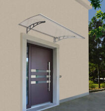 Vordach Überdachung Haustürvordach Polycarbonat-Solide Klar + Aluminium Verzinkt