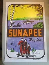 Lake Sunapee, NH Limited Edition Signed Ski Poster by NH Artist