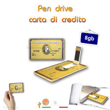 PEN DRIVE USB CREDIT CARD 8GB CARTA DI CREDITO AMEX CHIAVETTA PENNA FLASH MEMORY