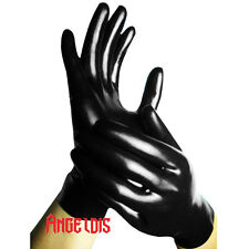 AngelDis latex gloves to wrist with 5 fingers only black Size S M L #11011