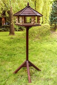 Exclusive Large Wooden Bird Table House, Feeder & House