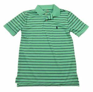 NWOT Polo Ralph Lauren Boys Striped Interlock Performance  Polo Shirt