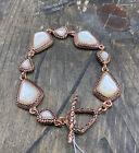 Barse La Perla Toggle Bracelet-Mother of Pearl & Copper-NWT